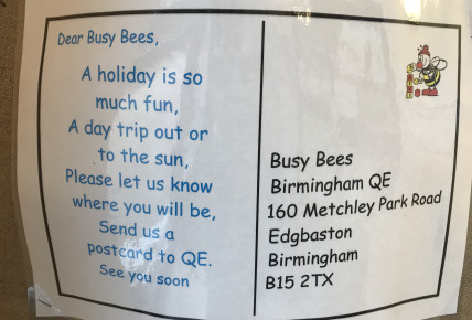 Postcards to Busy Bees QE Photo-5