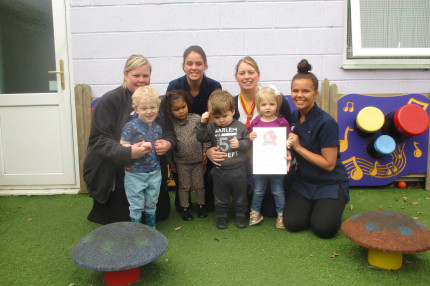 Day Nurseries Award Recieved By Staff