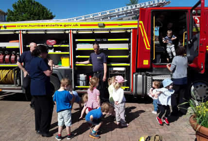 Fire Engine Visits Brough Photo-3
