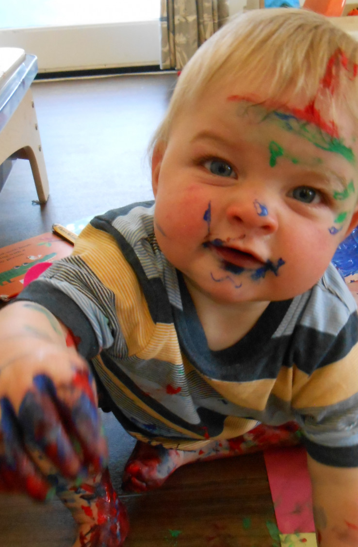 Messy Play with the Baby Room
