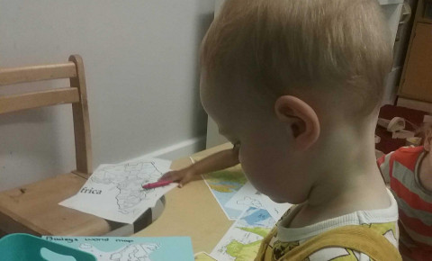 The Nursery Blog- Map Making with Toddlers Photo-2