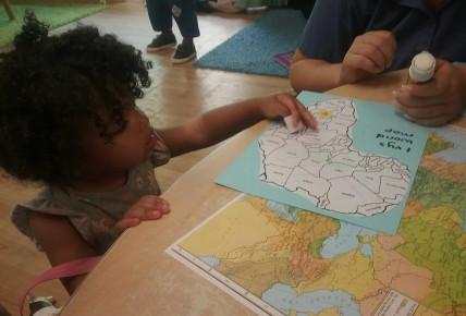 The Nursery Blog- Map Making with Toddlers Photo-4