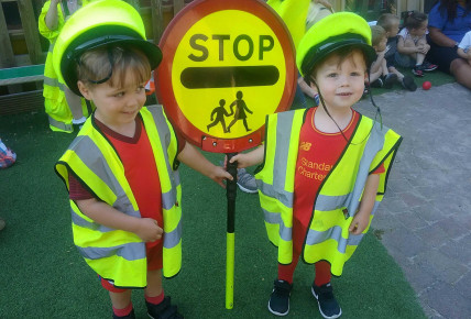 Visit from Rosie the Lollipop lady! Photo-1