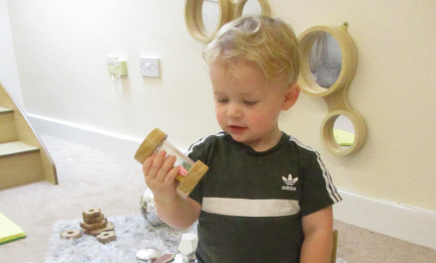 Sensory play helps us develop and learn. Photo-1